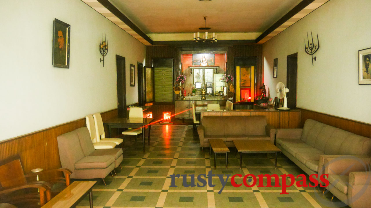 The interior of Duong Van Minh's home looks unchanged since his 1983 departure.