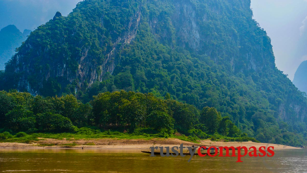 Children Of Asia At River Nam Ou In Laos Stock Image