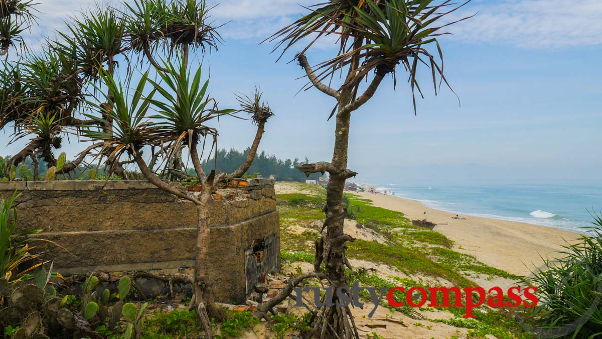 Old wartime bunker near An Bang Beach, Hoi An