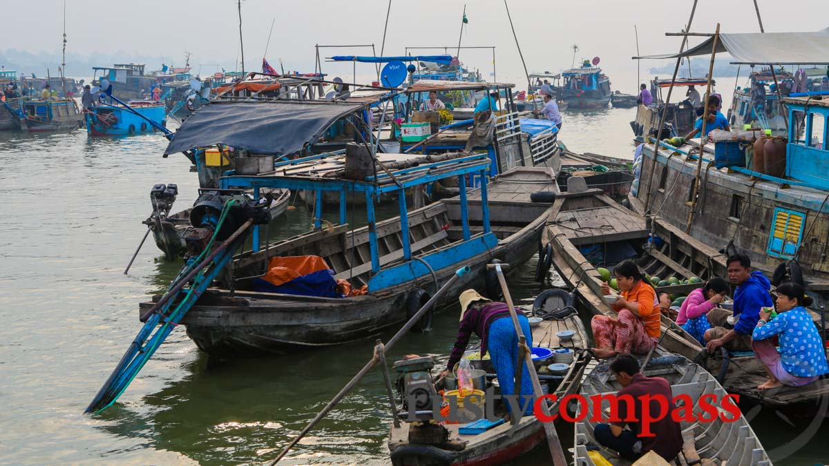 Chau Doc floating market - accessed from Saigon