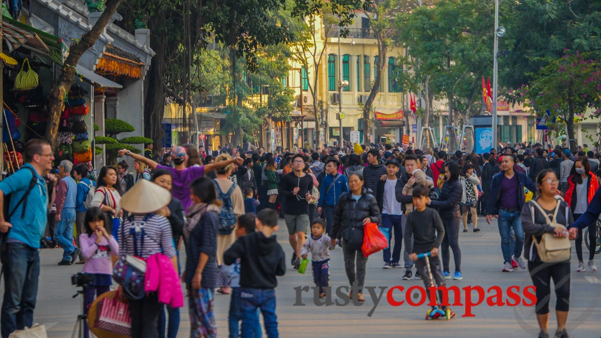 Walking in Hanoi