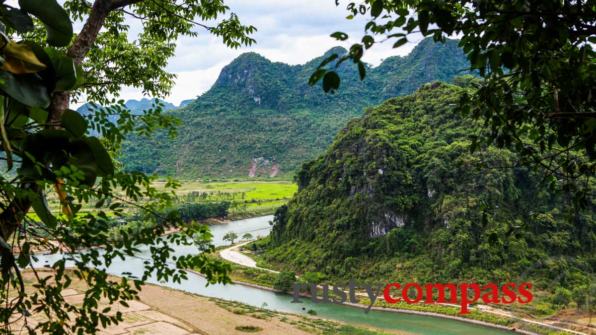 The view from Tien Son Cave, Phong Nha