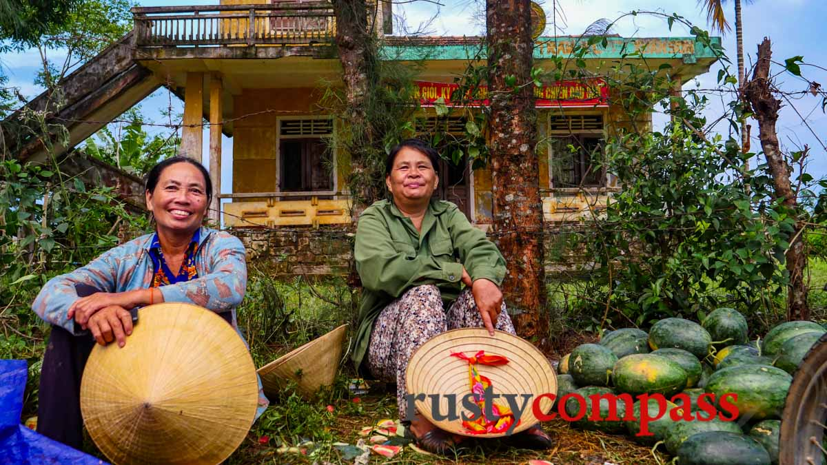 Better to be looking up at their world than down on it - Watermelon ladies - Phong Nha