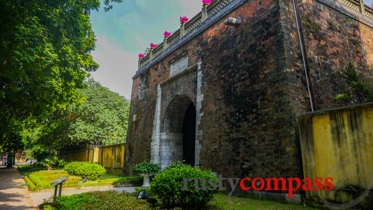 North Gate of Hanoi Citadel - it carries the scars from the French attack in 1882.
