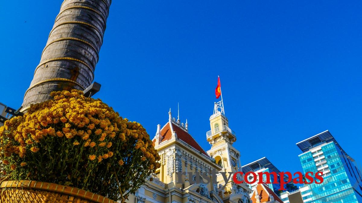 The clear blue skies of Saigon's Tet