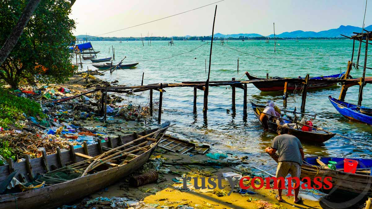 A beautiful Vietnam coastal scene spoiled by plastic - and that's before it hits the ocean