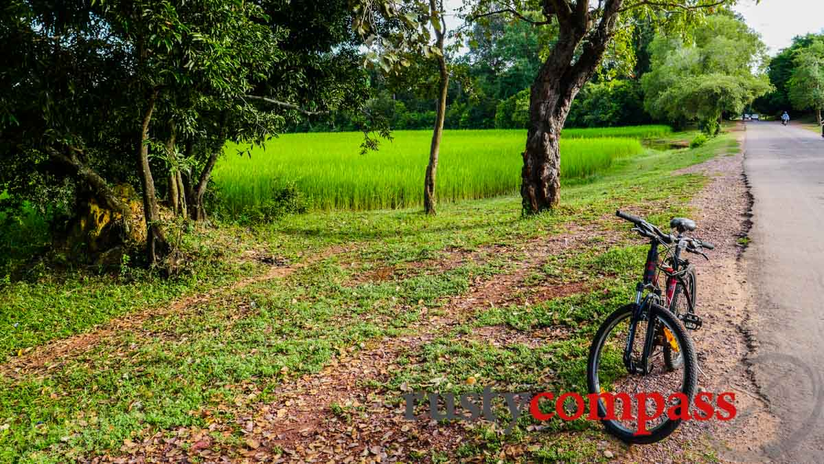 Cycling beyond the main temples - Angkor Archaelogical Park