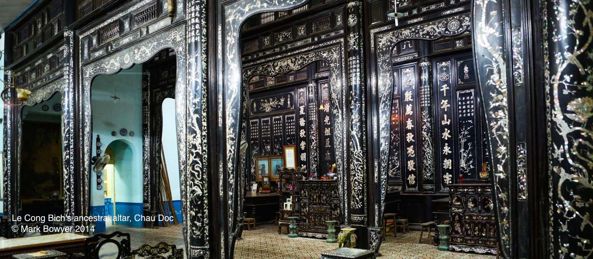 The ancestral worship house, Chau Doc