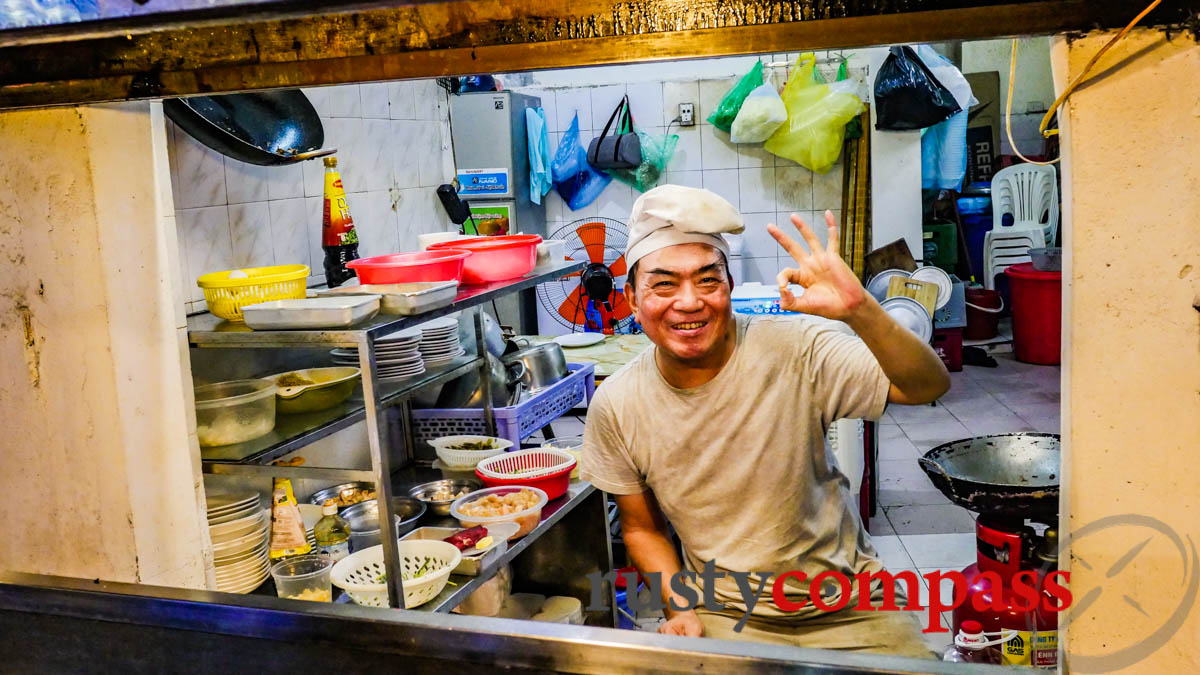 Mr Hung from one of the oldest stalls on Tong Duy Tan St, Hanoi