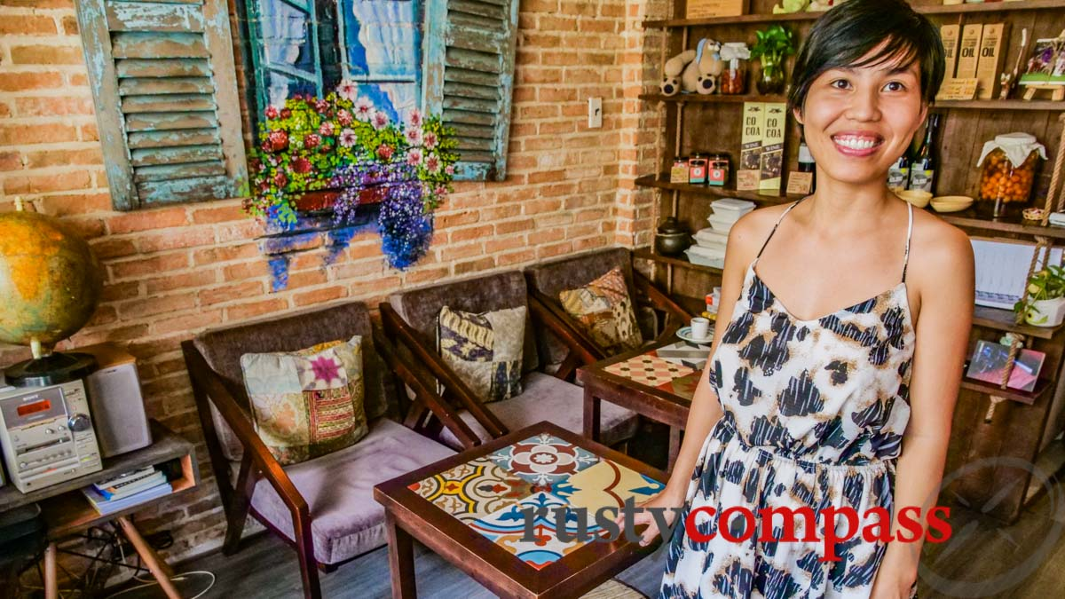 Quyen, co-owner of Organik House vegetarian, Saigon