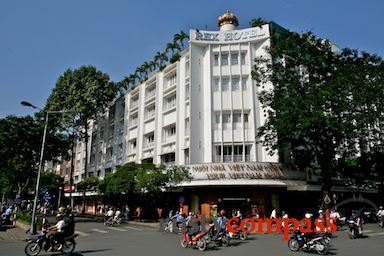 architecture,colonial,French,Ho Chi Minh City,hotels,museums,people,Rex Hotel,Saigon,streets,Vietnam