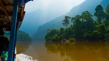 The Nam Ou river journey between Muang Khua and Nong Khiaw to Luang Prabang, Laos