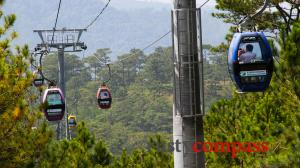 Cable Car and Truc Lam Pagoda