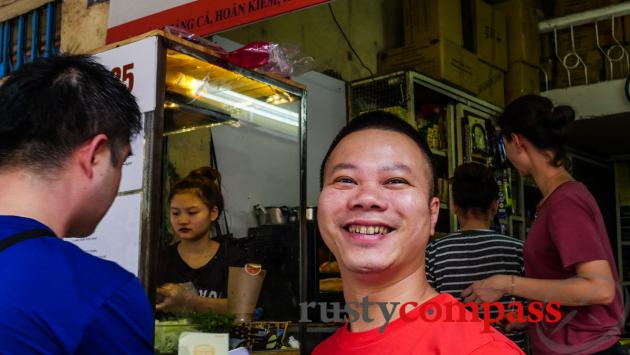 Mr Phuong, the mean behind Banh Mi 25, Hanoi