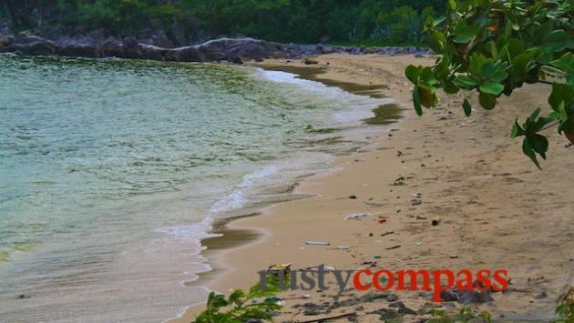 Bao Dai's beach is on the grubby side.