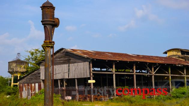 Battambang's ruined rail yards.