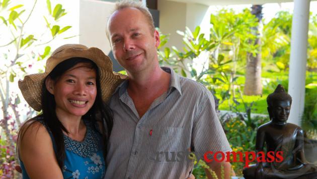 Phary and Jan, Battambang Resort