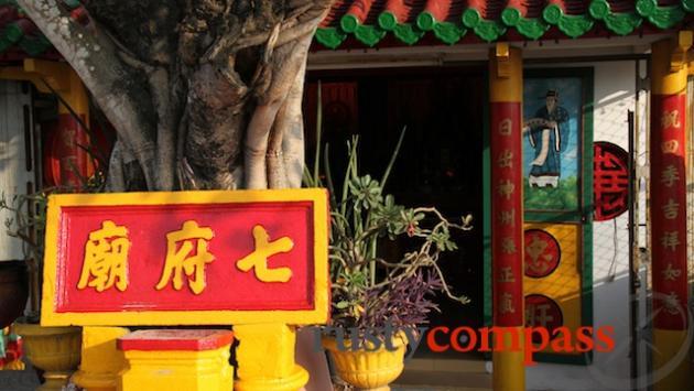 Ben Tre riverfront. Chinese Temple.