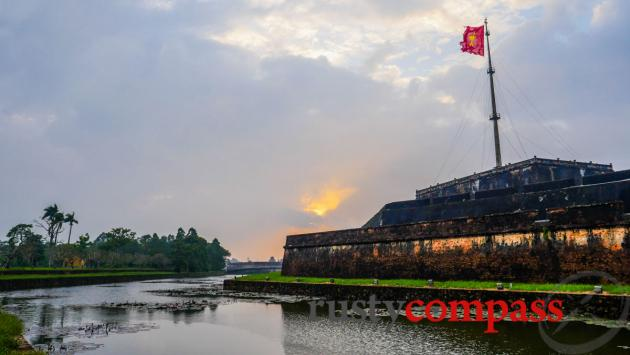 Hue Citadel - In 1968, the Viet Cong flag flew from here for 26 days.
