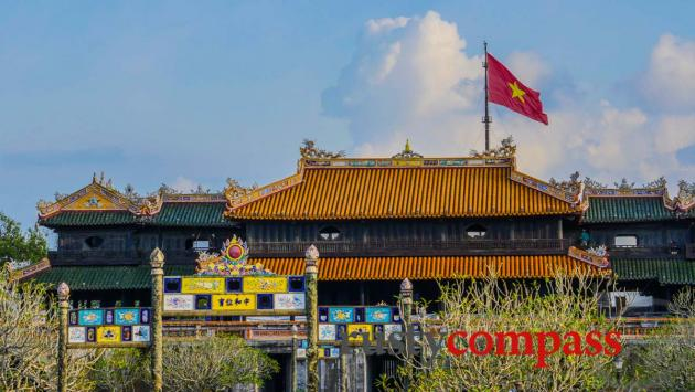 Hue Citadel and the flag tower