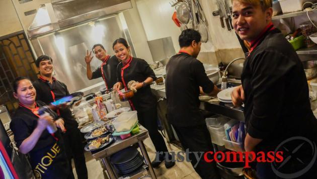The kitchen team - Bistrot Langka, Phnom Penh