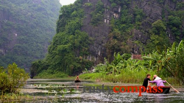 Boating at Tam Coc