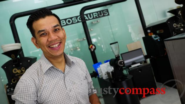 Hung - the man behind Bosgaurus coffee