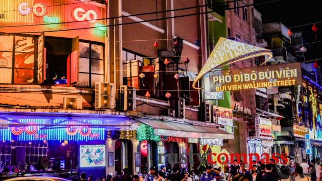 Bui Vien St - Saigon's walking street and nightlife centre
