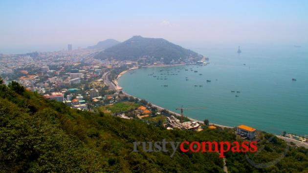 The view across Vung Tau from the cable car.