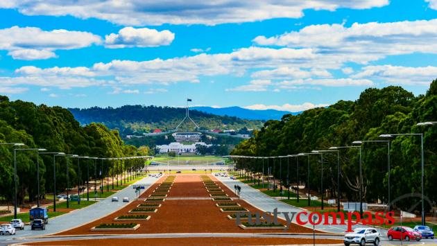 Australia's supremely orderly capital, Canberra.