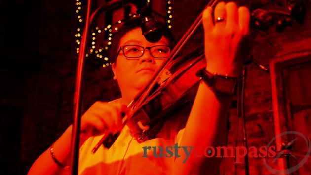 Carmen Bar, Saigon - broken up with a little violin peformance.