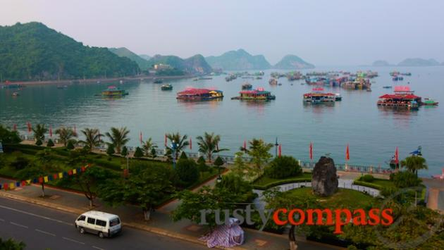 My view from the Cat Ba Dream Hotel.