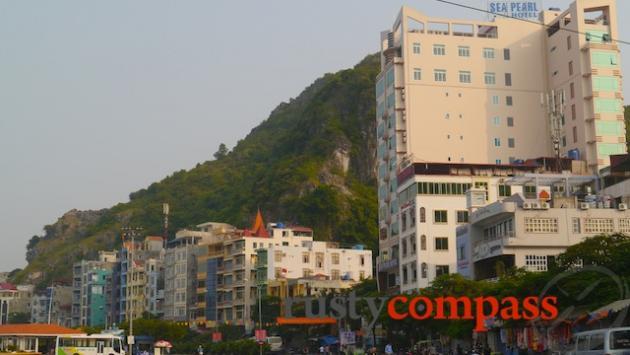 The harbourside hotel strip, Cat Ba
