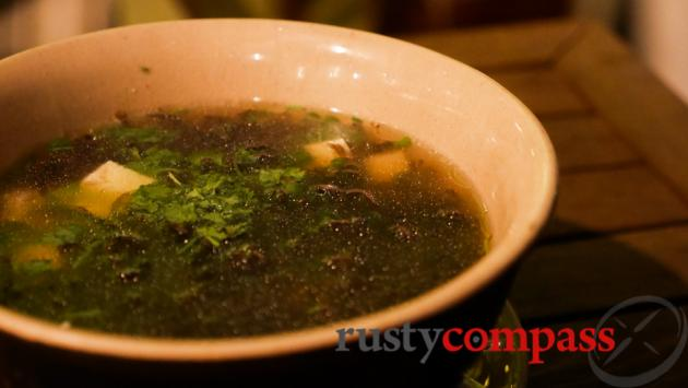Seaweed soup, Cau Go restaurant, Hanoi