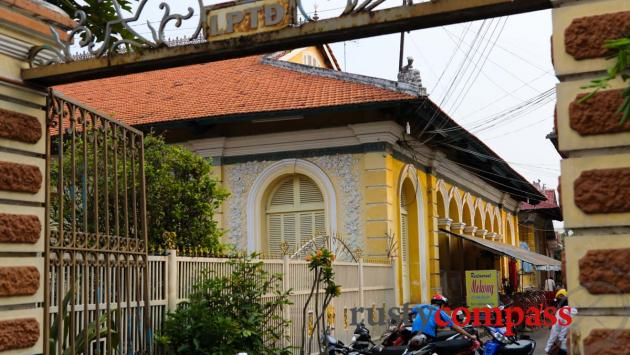 The early twentieth century colonial style former residence of the chief Nguyen Dynasty official in Chau Doc.