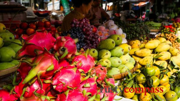 Delicious fruit, Chau Doc market.