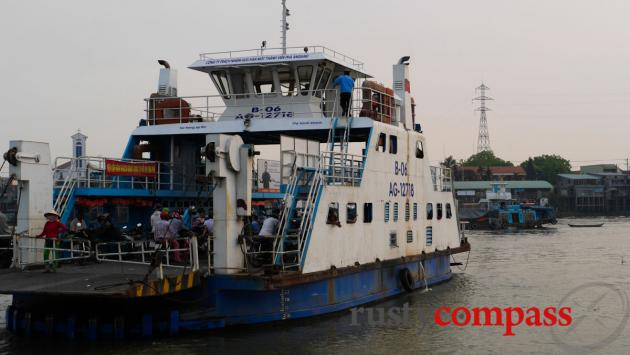 The ferry across the Mekong from Chau Doc to Chau Giang