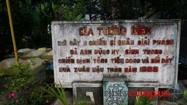 Memorial to communist fighters killed in Chau Giang in 1968 Tet Offensive.