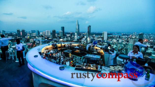Happy hour's a good time to check out Chill Sky Bar, Saigon