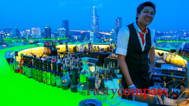 Chill Sky Bar, Saigon - rooftops are in.