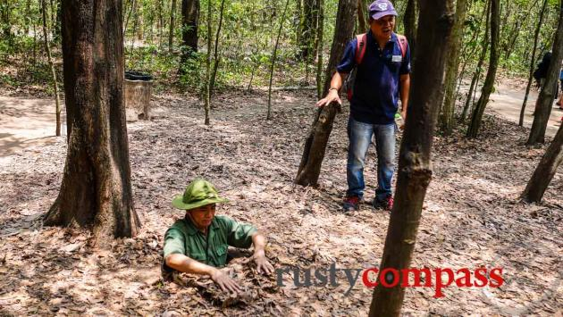 Entering the Cu Chi tunnels