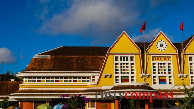 Dalat's distinctive railway station - fusing deco and local architectural styles.