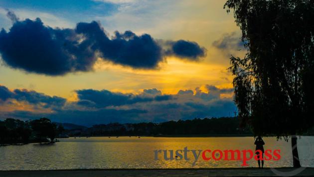 Sunset over Ho Xuan Huong