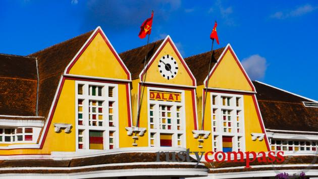 Dalat's distinctive railway station.