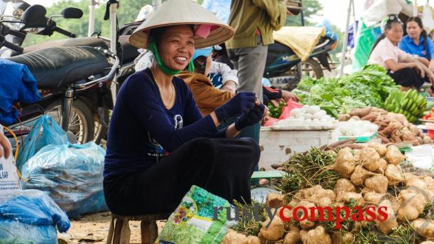 Ethnic Thai woman in the market at Dien Bien Phu.