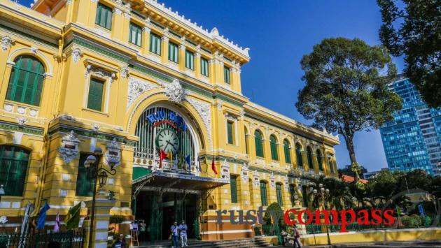 Saigon's major sights are mostly in District 1 - This is the colonial era Post Office.