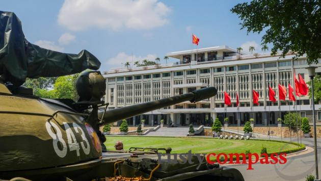 The city sights are mostly close by Saigon's District 1. The Reunification Palace.