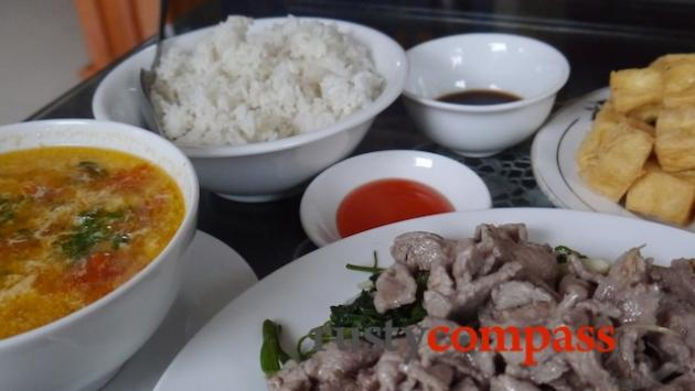 Country cuisine, Ninh Binh - canh soup, meat and tofu