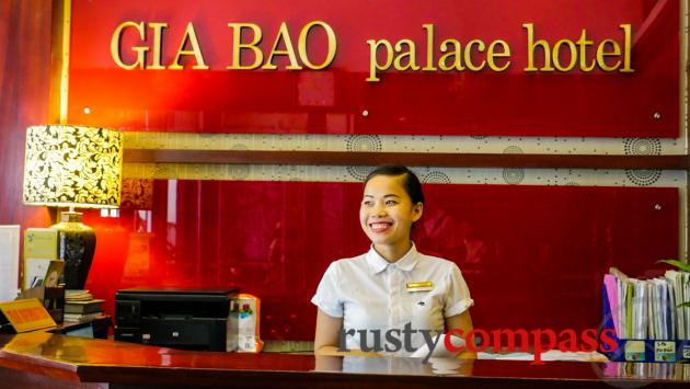 Service with a smile, Hanoi style.
