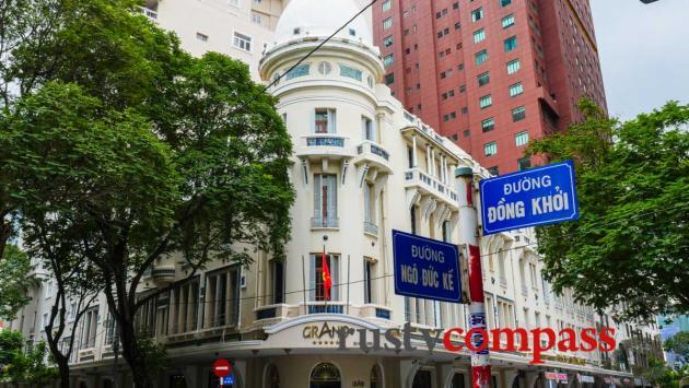 The Grand Hotel, Saigon - one of the city's handsome colonial era buildings.